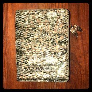 Victoria Secret Silver Sequin Passport Holder